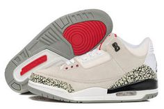 Release Moment: Jordan III White/Black -Red/Grey Cement Colorways Women's Suede Sneaker #fashion