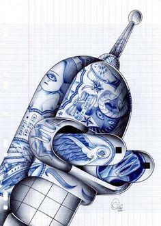 Odö aka Nicolas Le Borgne Artwork | Best Bookmarks #illustration #bender #poster
