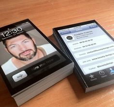 Twitter / @thecoolhunter: iPhone business cards - ce ... #iphone #cards #visit