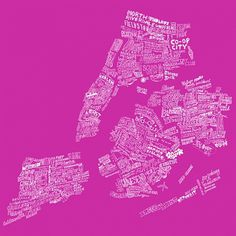 █ Max Kaplun #handlettering #obsessive #newyorkcity #map #illustration #neighborhoods #nyc