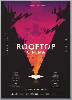 Rooftop Cinema #design #graphic #typography