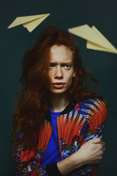 Oyster Fashion: 'Anne Lise' Shot by Gabriela Celeste | Fashion Magazine | News. Fashion. Beauty. Music. | oystermag.com #photo #hair #planes #fashion #ginger #paper #freckles