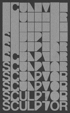 Sculptor Identity #type #poster