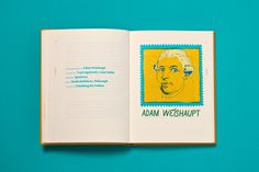 #book #illuminaten #bookbinding #relief #yellow #green #blue #multiply #screenprint #typography #illustration #portrait