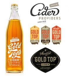 Typeverything.com - Gold Top by Simon Walker. - Typeverything #typography #label #simon walker #package design #cider #gold top #script type