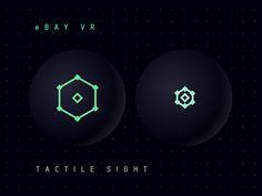 eBay VR - Tactile Sight Interaction #vr #virtualReality #ui #ux #ebay #futuristic #animation #dark #fluo #cursor