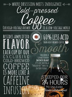 Inspired by European food markets and the craft of chalk lettering, these posters celebrate everything caffeinated.