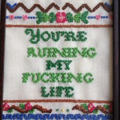 Instagram #vulgar #embroidery #needlepoint #crossstitch #flowers