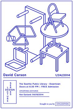 david carson #seattle #lecture #design #icons #symbols #eattle #furniture #civilization #poster #series #outline