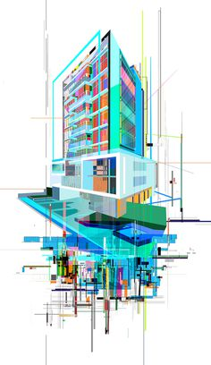 Aqua #commission #illustration #modern #architecture #art