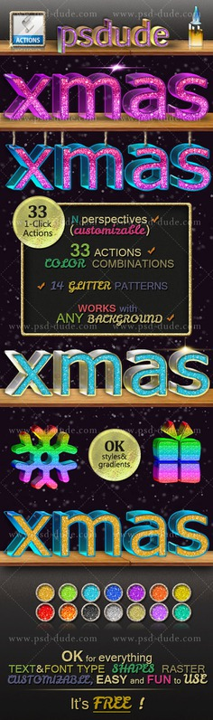 Glitter Photoshop Style | FREE Action | PSDDude