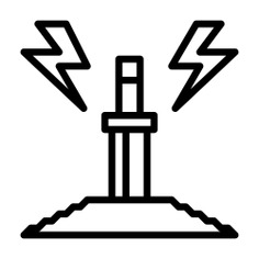 See more icon inspiration related to sword, cultures, excalibur, fairy tale, folklore, legend, miscellaneous, stone, fantasy, weapons and weapon on Flaticon.