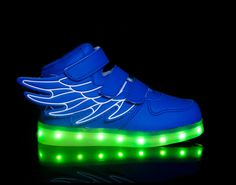 light up shoes led shoes Super Pegasus-Blue