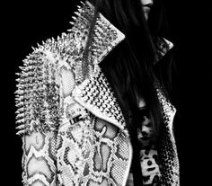THE WIRETAP #n #jacket #studs #rock #snake #leather #roll #skin