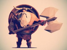 Low Poly Viking #illustration #viking