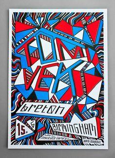 k a t e m o r o s s / w o r k / TOM VEK POSTER #illustration #typograph #poster