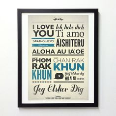 Love typography poster in different language by NeueGraphic