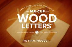 HELVETICA Wood Letters | Inspiration DE #helvetica #typography