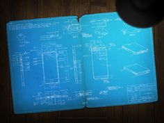 Apple iPhone 5 blueprint #poster