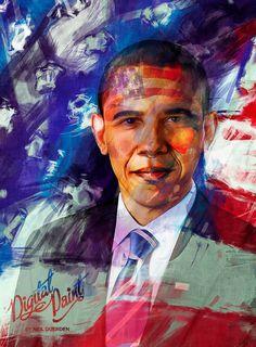 Digital President portrait by Neil duerden