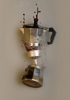 Coffeexplosion : Minusminus #coffee #print #explosion