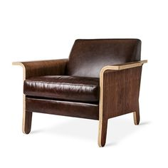 Leather Lodge Chair by Gus Modern