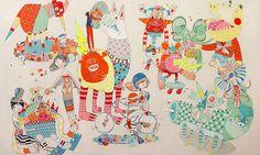 creature, kelly tunstall, bright, fun, art, illustration