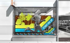 Nike AP Running 1 #display #window #retail
