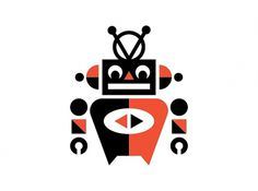 Ty Wilkins #red #robot #design #black #illustration #logo