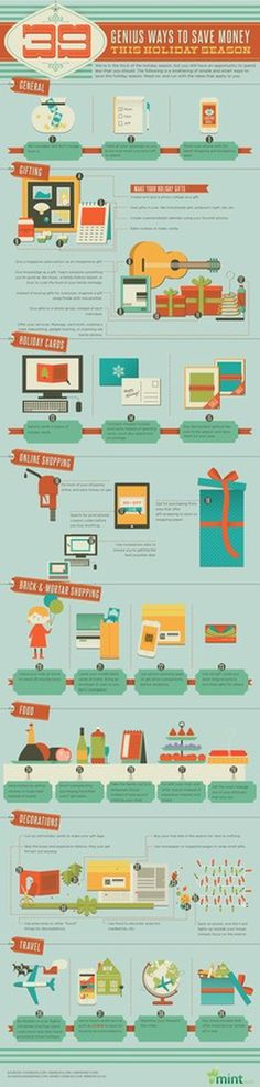 39 Ways to Save This Holiday Season #save #infographic #holiday #season #money