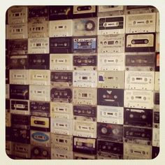 Augustine by Amanda #sculpture #cassettes #retro #photography #wall #collage