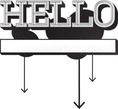 typographic greeting