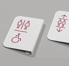 Wayfinding | Signage | Sign | Design 白色油漆状水滴风格洗手间图标