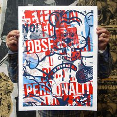 Obsessive Personality - Feature #screenprint #matt #ivan #barnes #poster #collaboration #crush