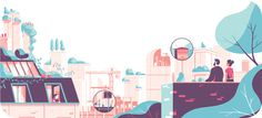 Tom Haugomat illustration #urban #diagram #scape #tom #illustration #haugomat #editorial #magazine #panoramic
