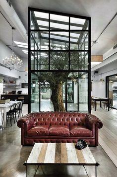 CJWHO ™ (Ravintola Kook Roomassa Restaurant Kook in Rome,...) #rome #tree #noses #architects #design #interiors #restaurant #architecture #italy