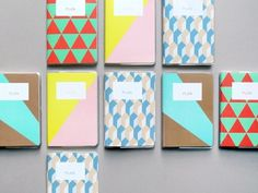 Present&Correct - Patterned Planner #geometric #pattern #diary #stationery #block colour