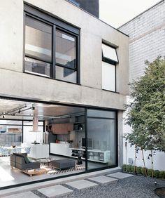 The Style Division #interior #concrete #home #glass #kitchen #architecture