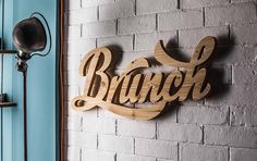 youtalkingtome by Legoff et Gambarra via www.mr-cup.com #caligraphic #retro #wood #wall #typography