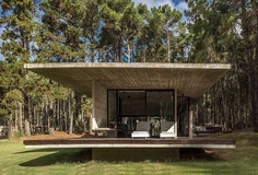 Forest Concrete House by Besonias Almeida Arquitectos 2