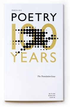 Poetry Magazine Anniversary Cover 2012 #cover #book