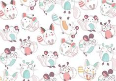 Chinchilla Cute Pattern