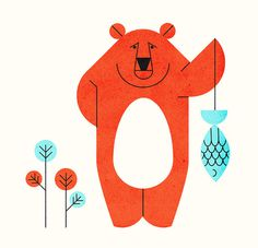 Bears Do Say Sorry - Parko Polo | Flickr - Photo Sharing! #bear #illustration #fish