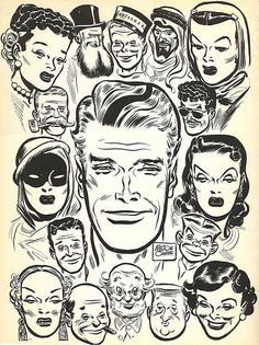 ... weird 40's faces | Flickr Photo Sharing! #faces #comicbook #milton caniff