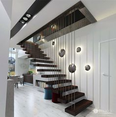 Modern Cosily Furnished Home by Studio Tolicci - #stairs