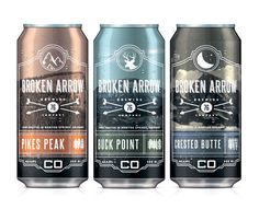 Broken Arrow - More ornate than you were perhaps thinking but love the adaptability of the branding. #packaging #beer