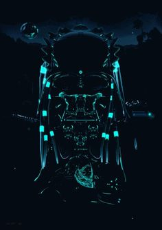 Death in motion. Goverdose v2.0 on the Behance Network #skull #neon
