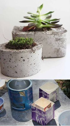 #DIY #concrete #pot