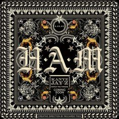 "Kanye West x Jay Z – ""H.A.M."" Single Cover Art By Riccardo Tisci #kanye #jay #west #ham"