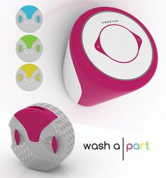Washapart Wall Washing Machine #tech #amazing #modern #innovation #design #futuristic #gadget #ideas #craft #illustration #industrial #concept #art #cool